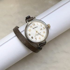 Gold Plated & Leather Shinola Big Birdy Collection
